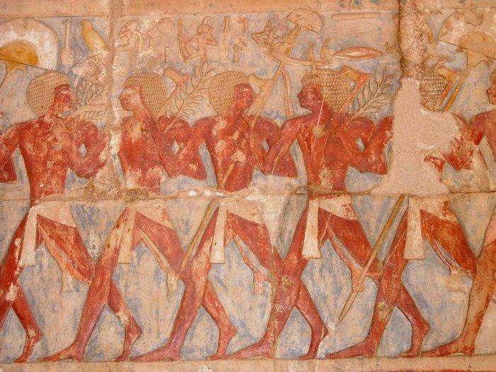 Роспись в храме Хатшепсут | Фото: liveinternet.ru